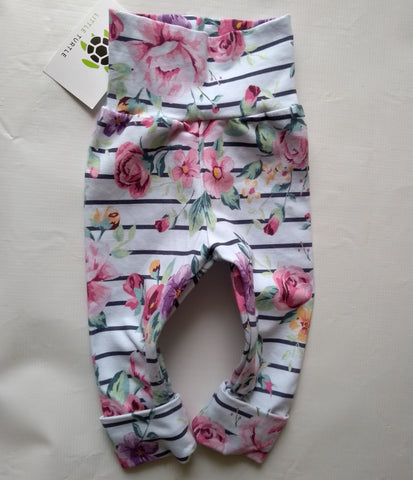 Grow With Me** Floral Stripe  Size M 3-18m
