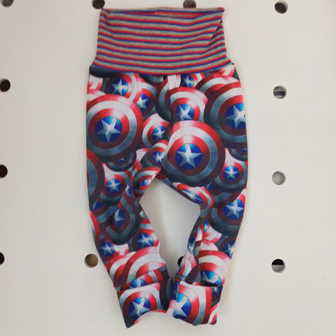 Grow With Me  Capt America Pants  Size M 3-18m
