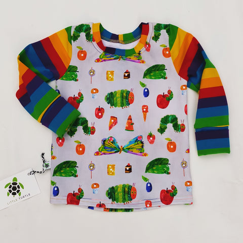 Sz L  Grow With Me LS Tee Hungry Caterpillar