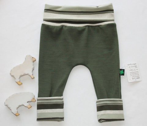 SALE 3-12M  Grow With Me Pants ** Merino Stripe