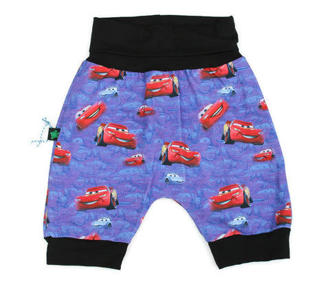 SALE ** Grow With Me Harem Shorts **  Cars!  Sz L 1-3yrs