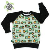 Custom Kids Raglan Top  Sz NB - Size 8