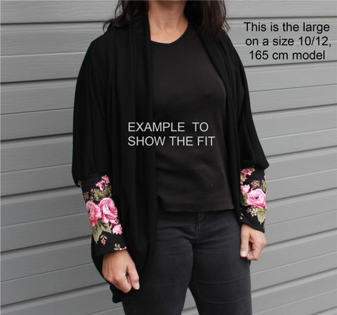 Custom Made Just For You ** Womans Stylee Merino Kimono Cardi
