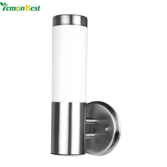 2pc LemonBest Waterproof Outdoor Lighting Stainless Steel E27 LED Wall Light IP65 Wall Lamp Porch Lights AC 220-230V
