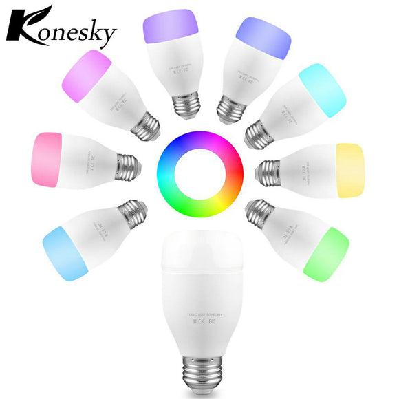 WiFi Smart Bulb 6W E27 RGBW LED Light Support Remote Control / E* Voice Control / Music Rhythm / Adjust Color Brightness for And