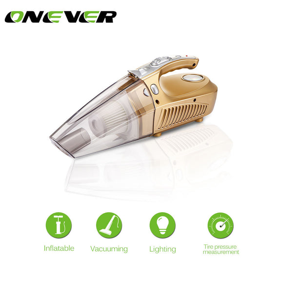 Onever Multi-function Car Vacuum Cleaner Tire Pressure LED Light Tire inflatable Pump12V 120W Tire Inflator