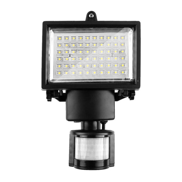 60 LED Solar Motion Light Cool White Security Lamp with PIR ON/OFF/AUTO Mode for Driveway Porches Decks Sheds 5m Detection Range