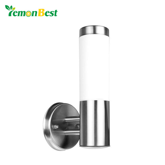 2pcs/lot 5W Waterproof Outdoor Lighting Stainless Steel E27 LED Wall Light IP65 Wall Lamp Porch Lights AC 220-230V Warm White