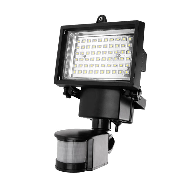 60 LED Solar Motion Light Security Lamp with PIR for Driveway Porches Decks Sheds 5m Detection Range