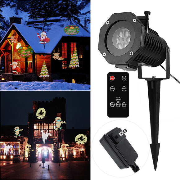 Projection Projector Light Remote Controllable Waterproof Moving LED Outdoor Spotlight Lamp