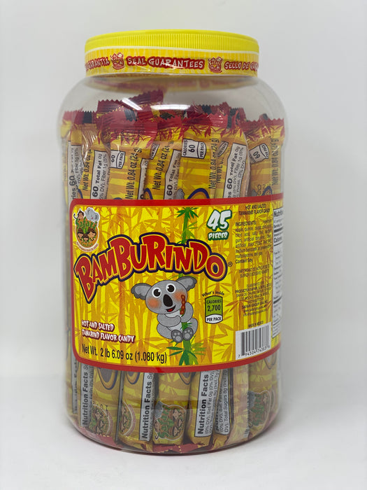 Bamburindo Tamarind Straws Individually Wrapped 45 ct