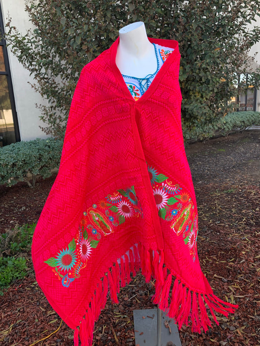 Rebozo Virgen de Guadalupe/ Virgin Mary Shawl/ Hand Made