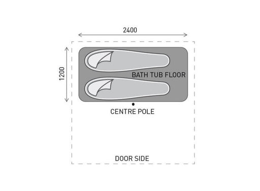 4Midable Bath-tub Footprint