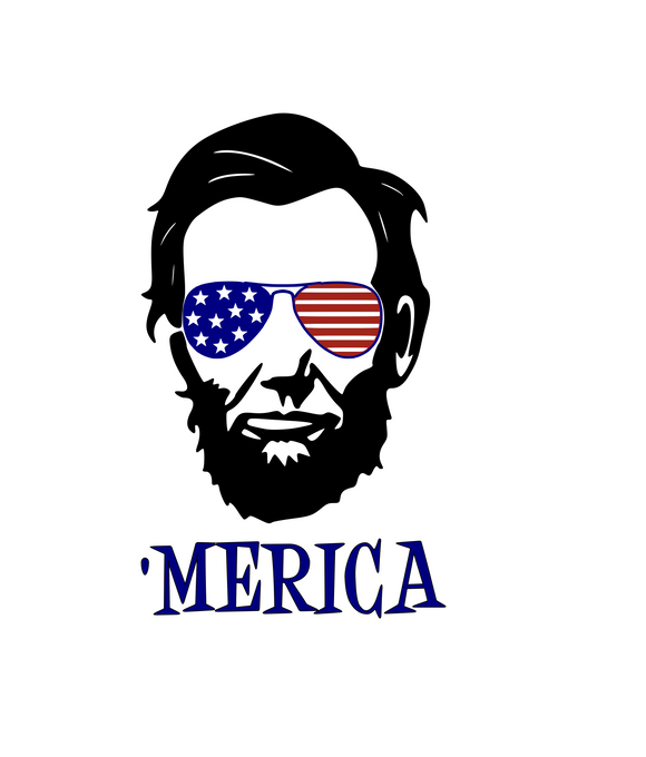 USA | Abe 'Merica Digital DXF | PNG | SVG Files!