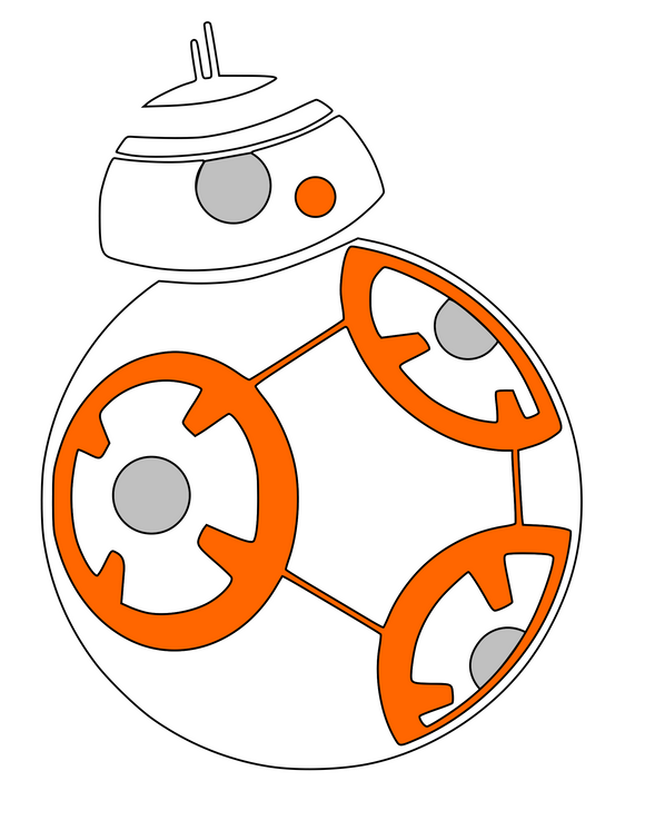 Star Wars Inspired | BB8 Digital DXF | PNG | SVG Files!