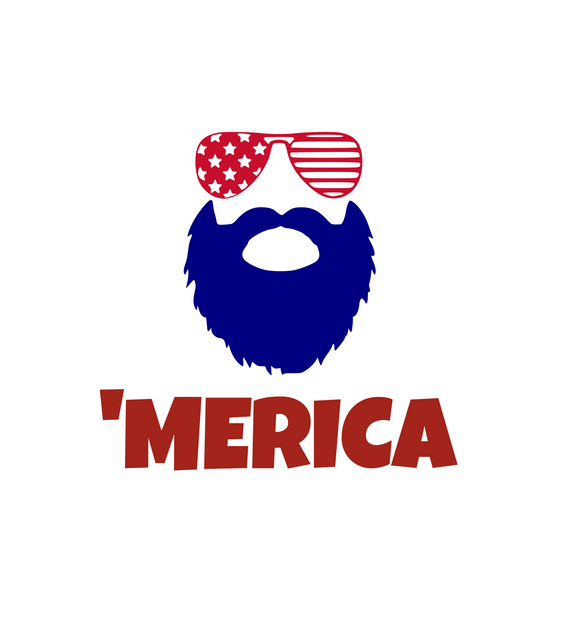 USA | Beard 'Merica Digital DXF | PNG | SVG Files!