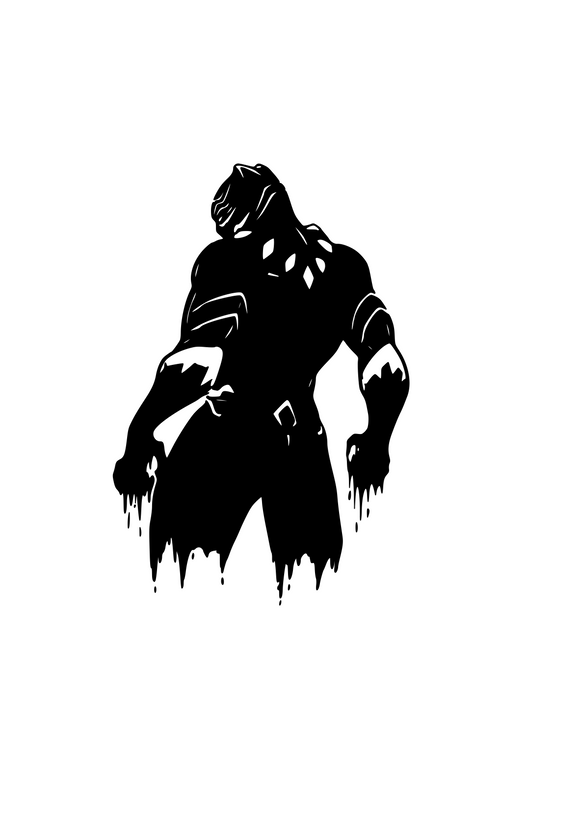 Black Panther Digital DXF | PNG | SVG Files!