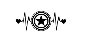 Captain America Heartbeat Digital DXF | PNG | SVG Files!