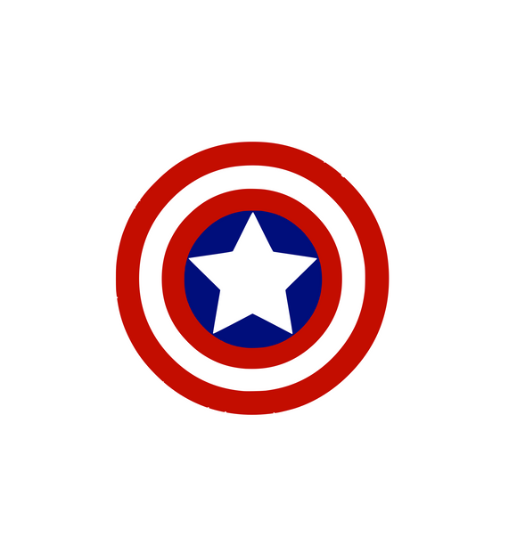 Captain America Logo Digital DXF | PNG | SVG Files!