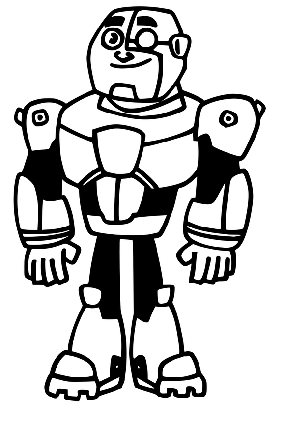 Teen Titans Inspired | Cyborg (full color) Digital DXF | PNG | SVG Files!