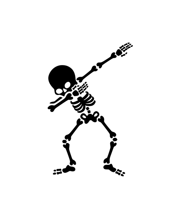 Dabbing Skeleton Digital DXF | PNG | SVG Files!
