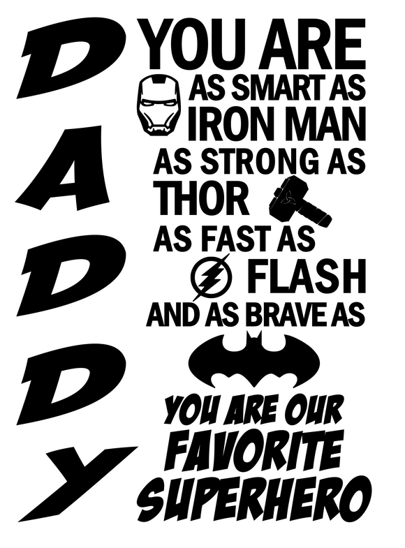 Daddy's Favorite Superhero | Iron Man, Thor, Flash, Batman Digital DXF | PNG | SVG Files!