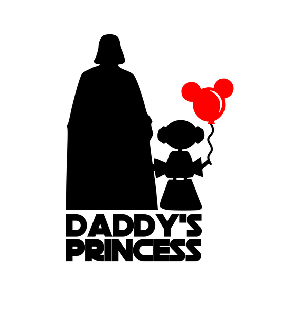 Darth Vader | Daddy's Princess Digital DXF | PNG | SVG Files!