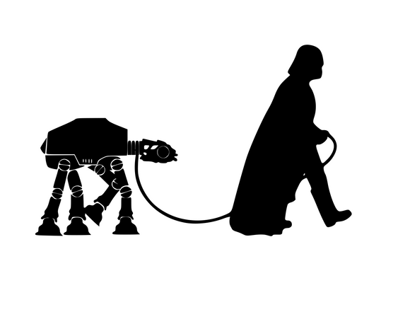 Star Wars Inspired | Vader Walking AT AT Walker  Digital DXF | PNG | SVG Files!