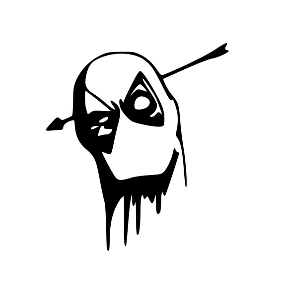 Deadpool Arrow Through Head Digital DXF | PNG | SVG Files!