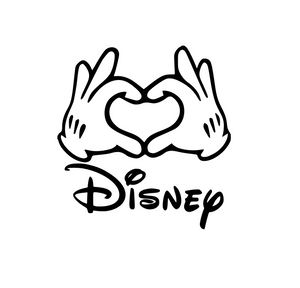 "Disney Inspired | Mickey Gloves ""Love"" Digital DXF 