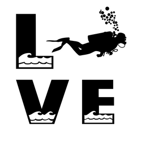 Scuba Dive Love Digital DXF | PNG | SVG Files!