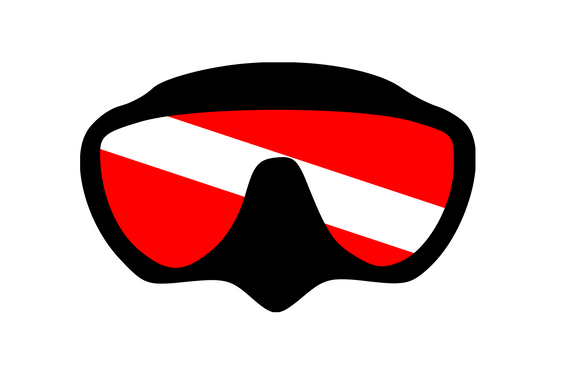 Scuba Dive Mask Digital DXF | PNG | SVG Files!