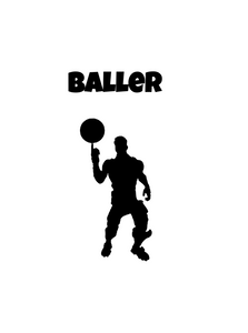 "Fortnite | Emote ""Baller"" Digital DXF 