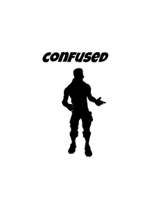 "Fortnite | Emote ""Confused"" Digital DXF 
