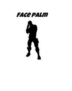 "Fortnite | Emote ""Face Palm"" Digital DXF 
