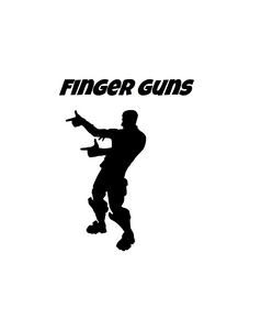 "Fortnite | Emote ""Finger Guns"" Digital DXF 