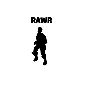 "Fortnite | Emote ""Rawr"" Digital DXF 
