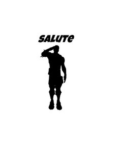 "Fortnite | Emote ""Salute"" Digital DXF 