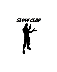 "Fortnite | Emote ""Slow Clap"" Digital DXF 