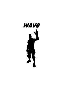 "Fortnite | Emote ""Wave"" Digital DXF 