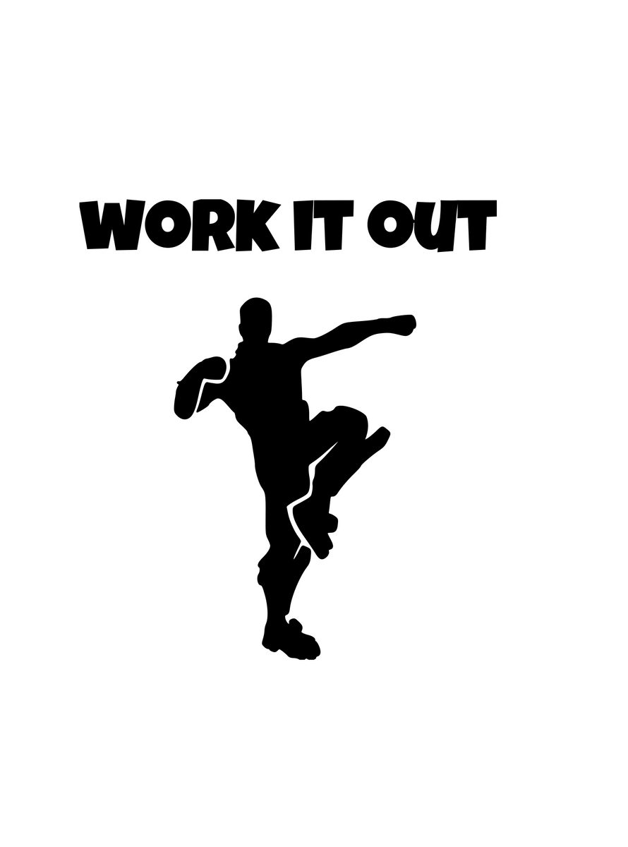 Fortnite Emote Work It Out Digital Dxf Png Svg Files Claire B S Caboodles