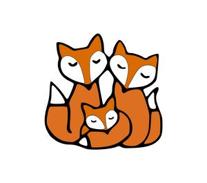 Cute Fox Family Digital DXF | PNG | SVG Files!
