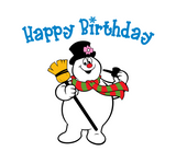 "Frosty the Snowman ""Happy Birthday!"" Digital DXF 