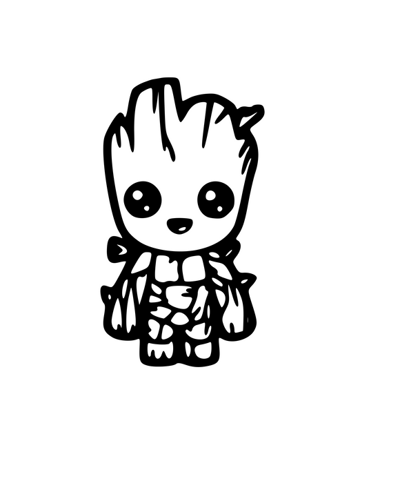 Groot Baby Digital DXF | PNG | SVG Files!