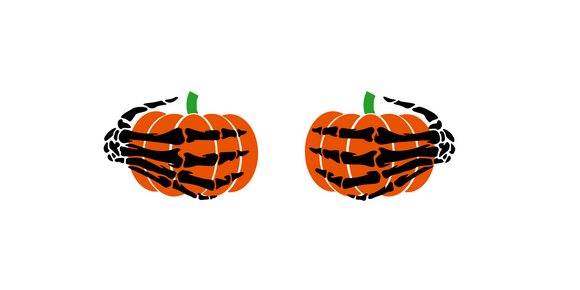 Halloween | Pumpkin Skeleton Hands Digital DXF | PNG | SVG Files!