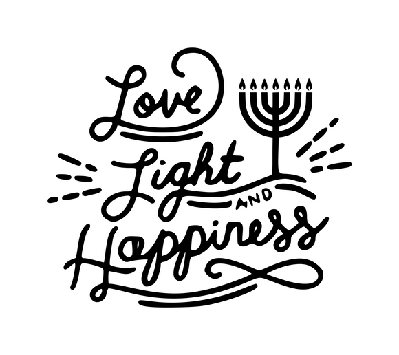 Hanukkah | Love, Light & Happiness Digital DXF | PNG | SVG Files!