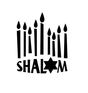 Hanukkah | Shalom Digital DXF | PNG | SVG Files!