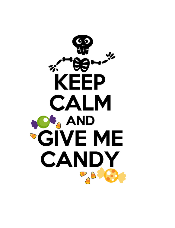Halloween | Keep Calm and Give Me Candy Digital DXF | PNG | SVG Files!