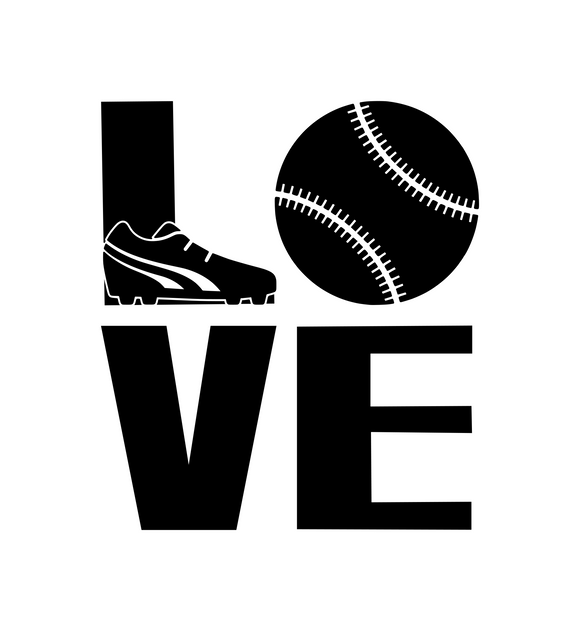 Sports! | Love Baseball Digital DXF | PNG | SVG Files!