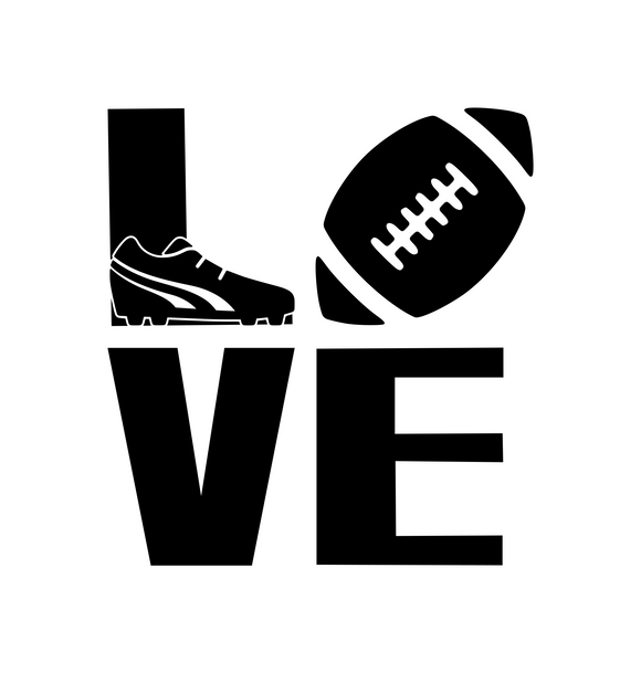 Sports! | Love Football  Digital DXF | PNG | SVG Files!